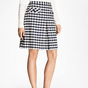 Brooks Brothers Gingham Bouclee Skirt